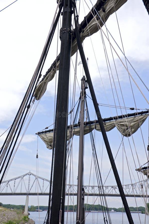 Caravel船在威诺纳明尼苏达 免版税库存照片
