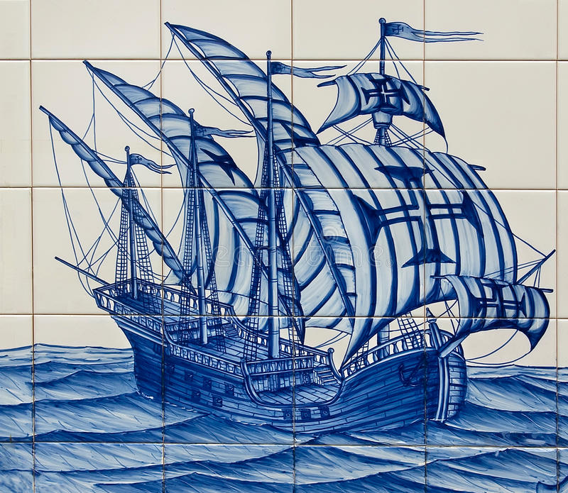 Download Caravel stock image. Image of discovery, azulejo, ceramic - 23477121