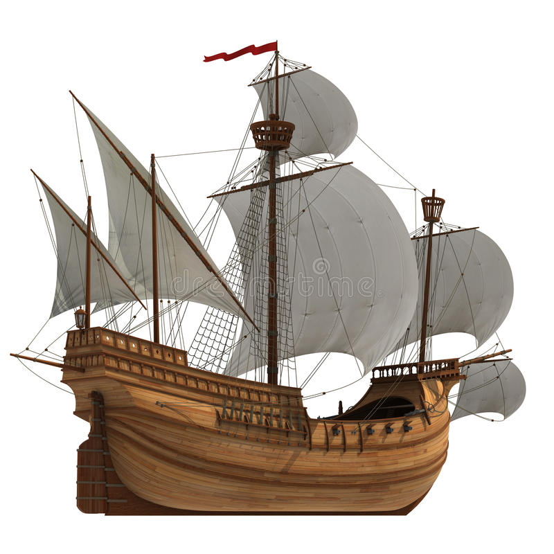 caravel vector illustratie