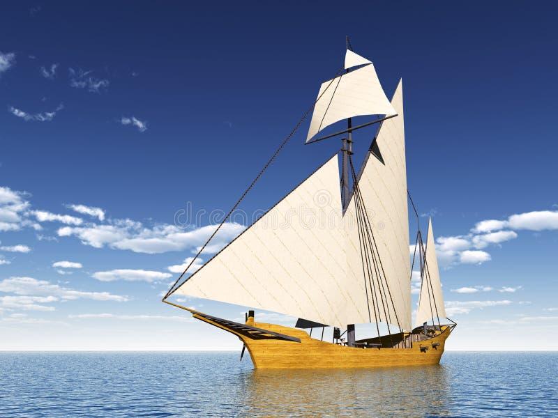 Download Caravel stock illustration. Image of wind, illustration - 41835744