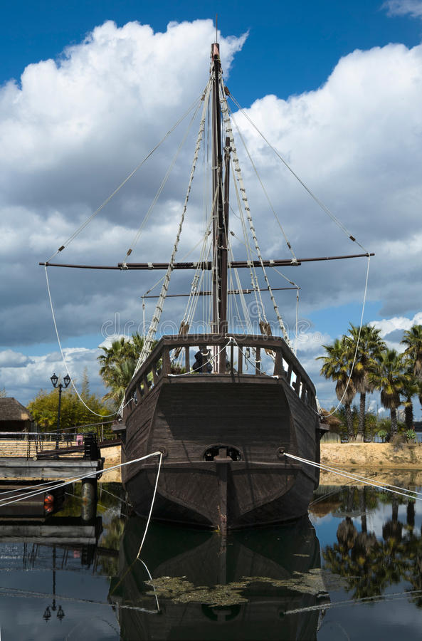 Download Caravel La Pinta Hold And Helm Stock Image - Image: 24572897