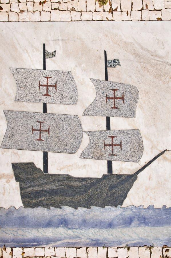 Caravel portugais images libres de droits