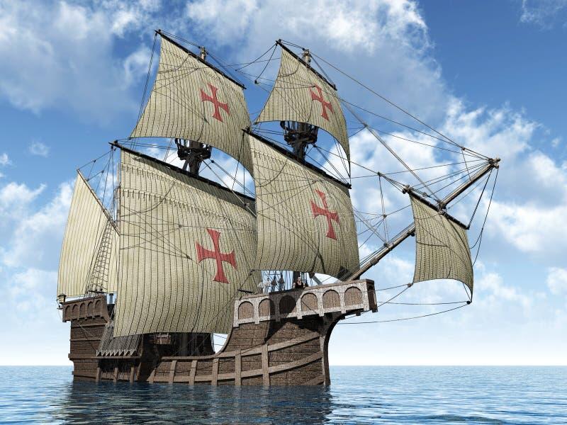 Caravel português ilustração royalty free