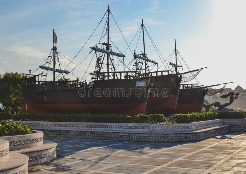 The Caravels of Christopher Columbus royalty free stock photography