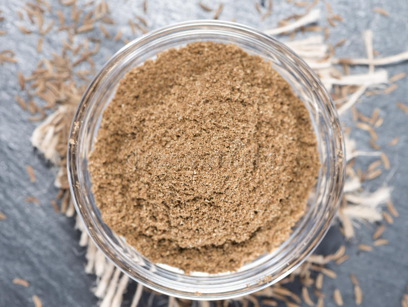 Download Caraway Powder in a bowl stock photo. Image of oriental - 39508780