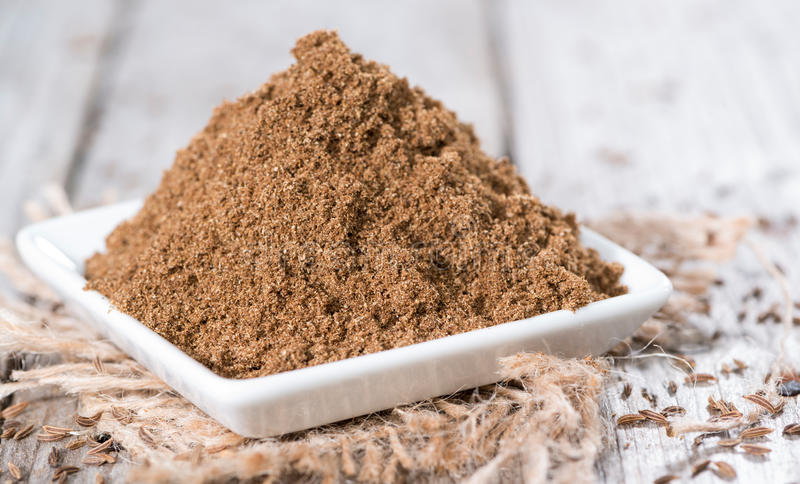 Download Caraway Powder in a bowl stock image. Image of close - 39508809