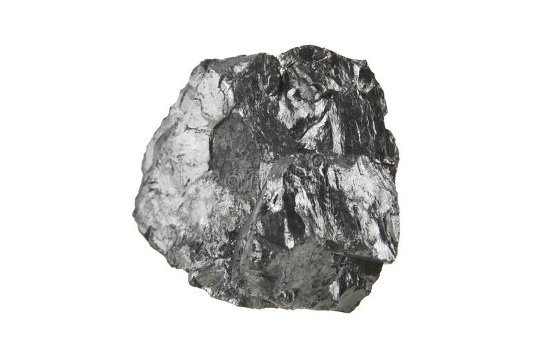 Carbón aislado en blanco fotografía de archivo