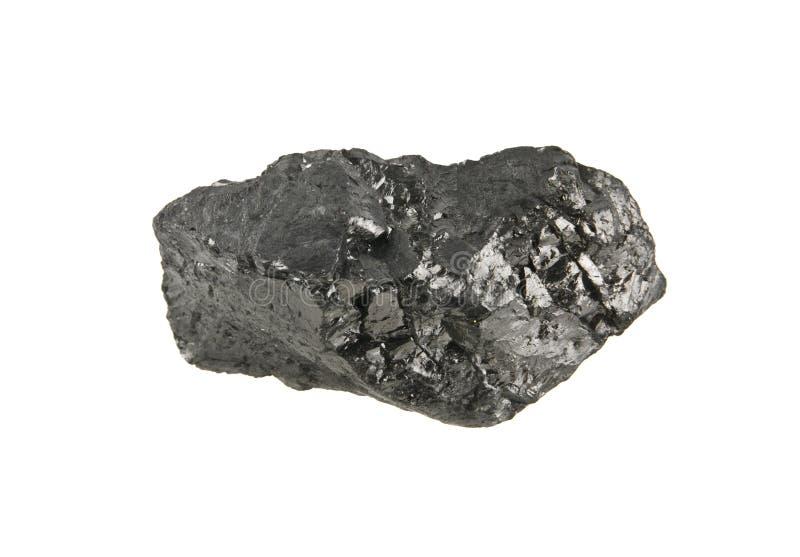 Carbón aislado en blanco imagen de archivo libre de regalías