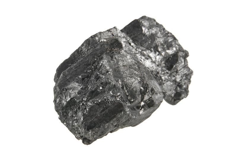 Carbón aislado en blanco fotografía de archivo libre de regalías