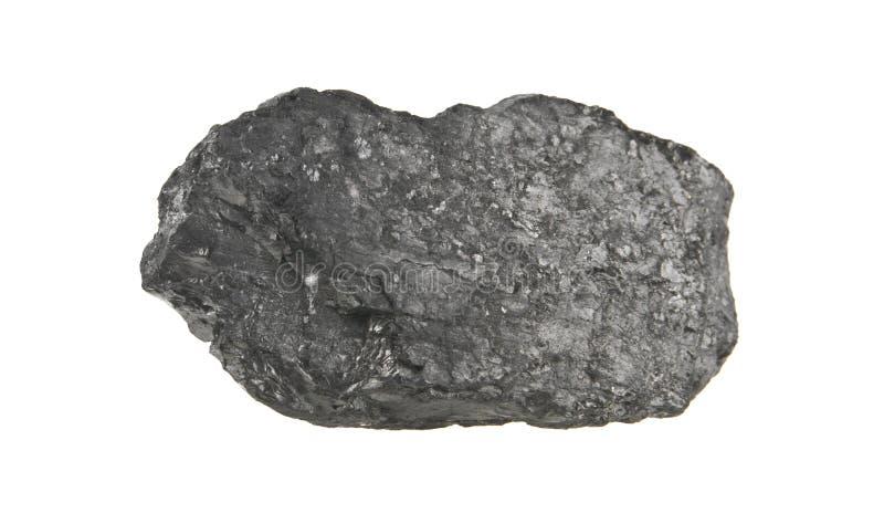 Carbón aislado en blanco imagen de archivo