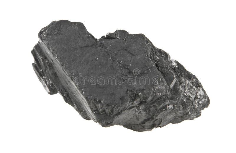Carbón aislado en blanco foto de archivo libre de regalías