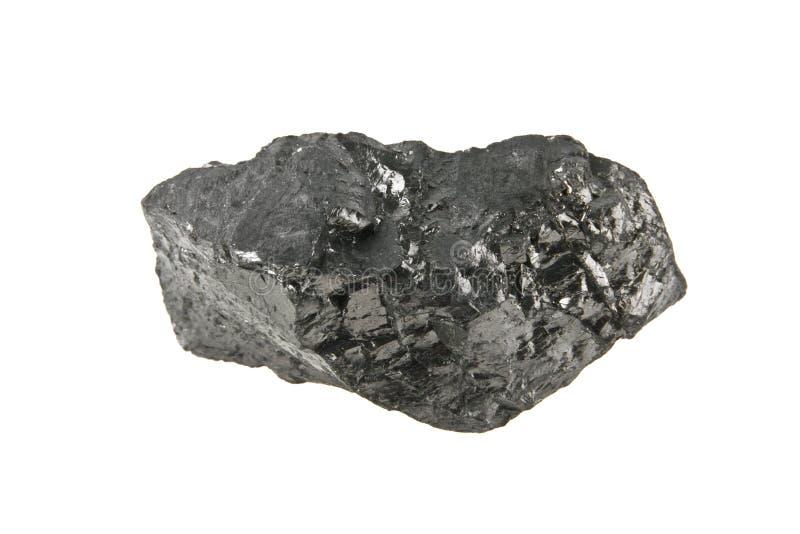 Carbón aislado en blanco imagenes de archivo