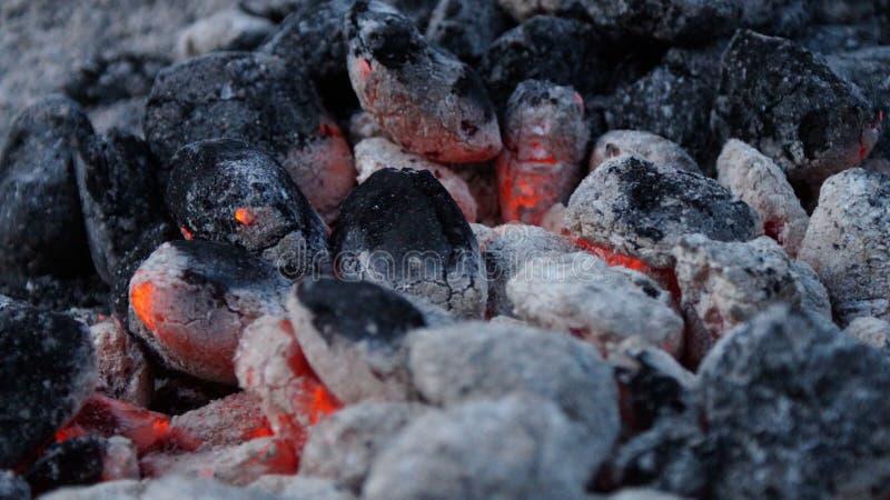 Carbón caliente imagen de archivo