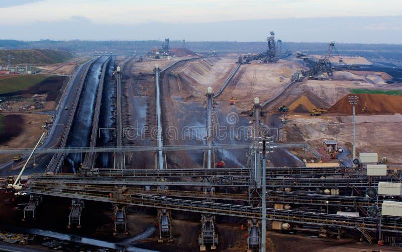 Carbón a cielo abierto imagen de archivo libre de regalías