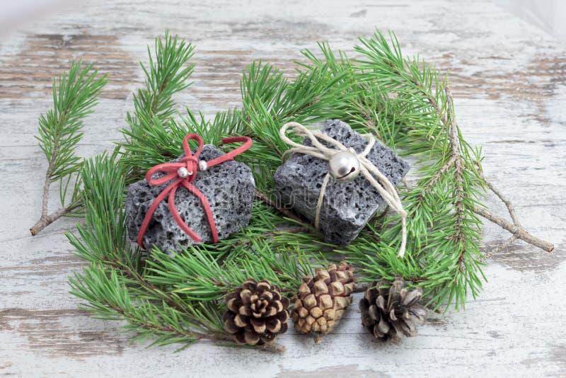 Carbón de la Navidad fotografía de archivo libre de regalías