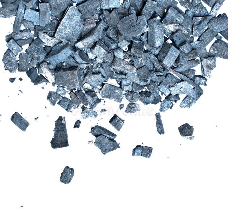 Carbón de leña fotografía de archivo