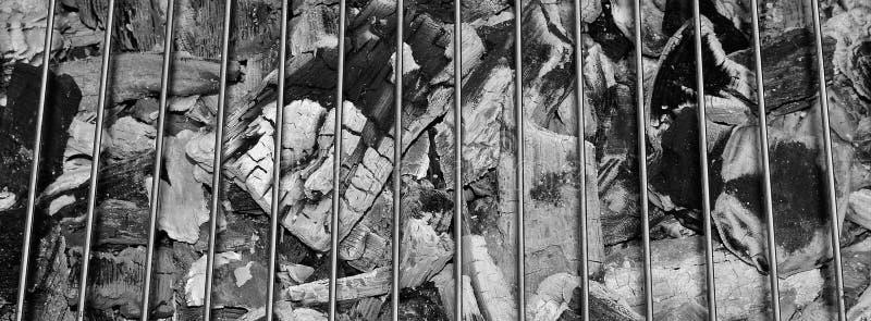Carbón de leña - parrilla imagenes de archivo
