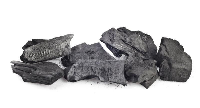 Carbón de madera fotografía de archivo
