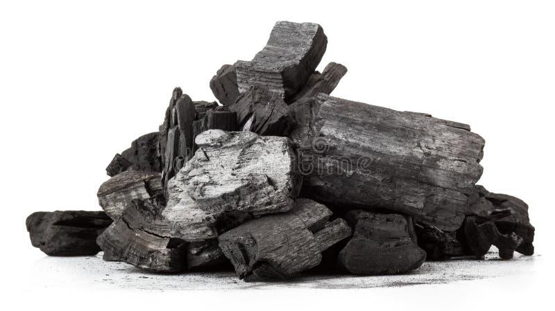 Carbón de madera fotografía de archivo libre de regalías