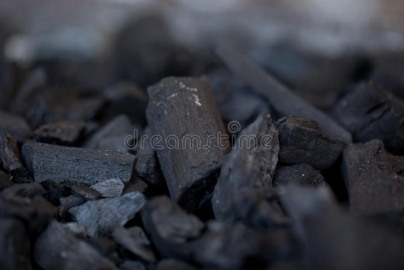Carbón de madera Unlit foto de archivo