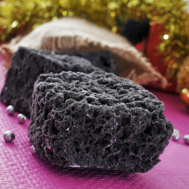 Carbón del caramelo de la Navidad fotos de archivo libres de regalías