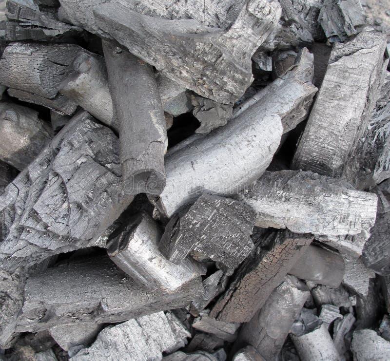 Carbón del carbón de leña imagen de archivo