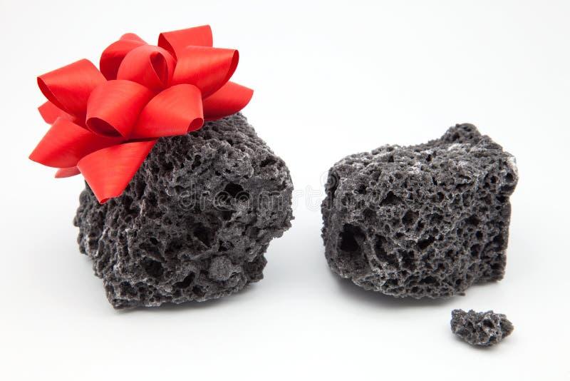 Carbón del regalo imágenes de archivo libres de regalías