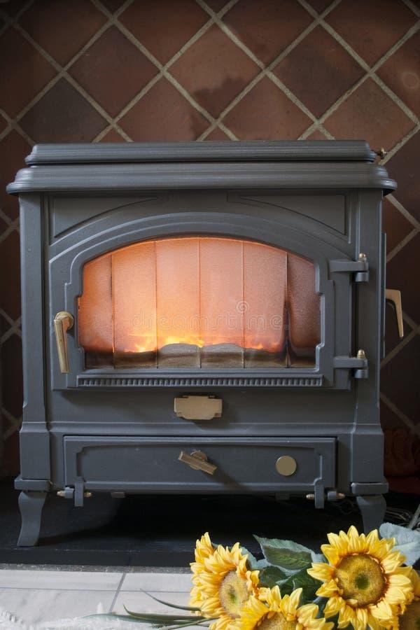 Carbón/estufa de madera fotografía de archivo