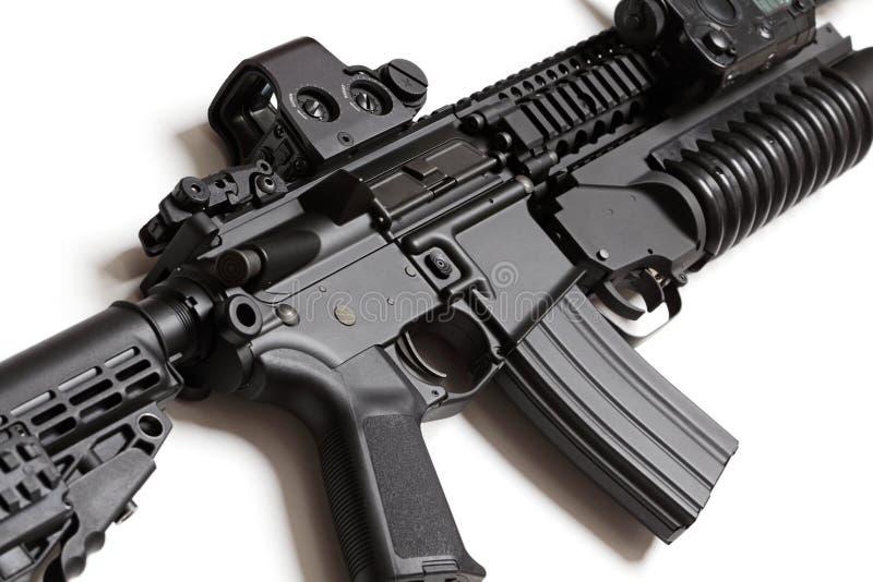 Carbine di assalto dell'esercito americano Con il louncher della granata immagine stock libera da diritti