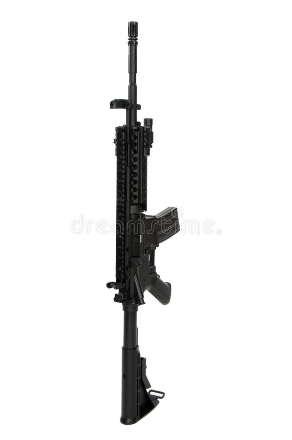 Carbine modificato M4 fotografia stock libera da diritti