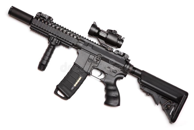 Carbine su ordinazione di assalto di formato compatto M4A1 di configurazione immagine stock libera da diritti