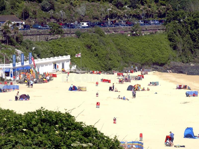 Download Carbis Fjärdstrand, Cornwall. Redaktionell Fotografering för Bildbyråer - Bild av familjer, tents: 37347094