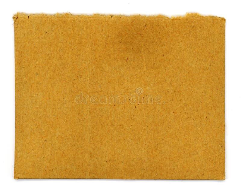 Carboard ha strappato immagine stock