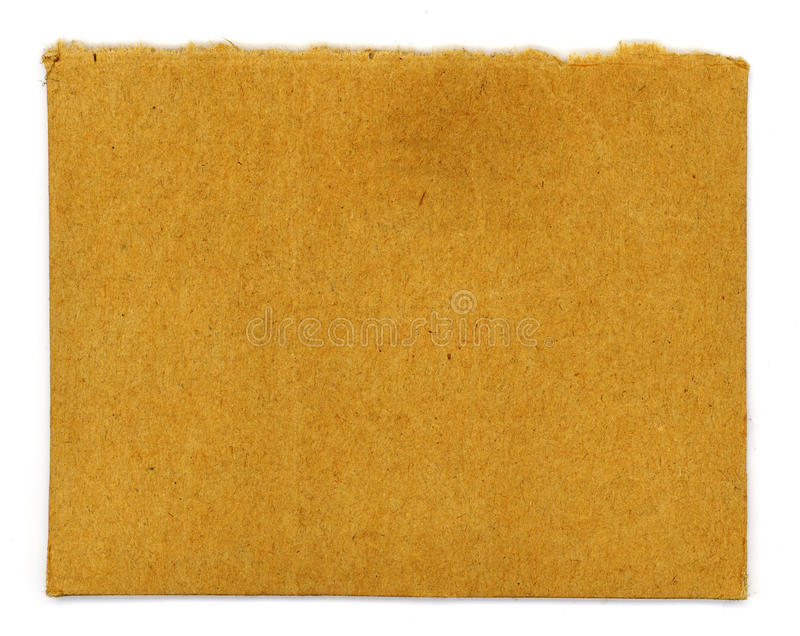 Carboard Ripped stock image