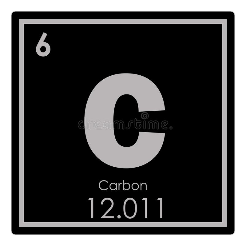 Carbon Chemical Element Stock Illustration Illustration Of Science