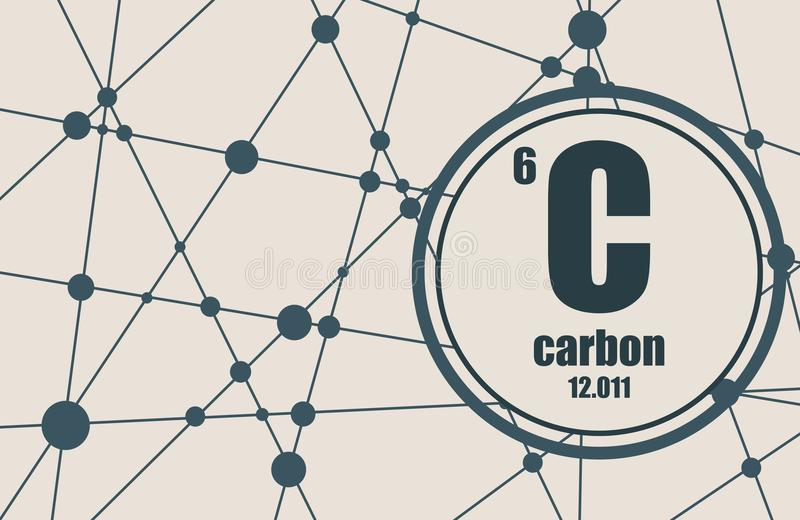 Carbon chemical element stock vector illustration of periodic carbon chemical element sign with atomic number and atomic weight chemical element of periodic table molecule and communication background urtaz Choice Image