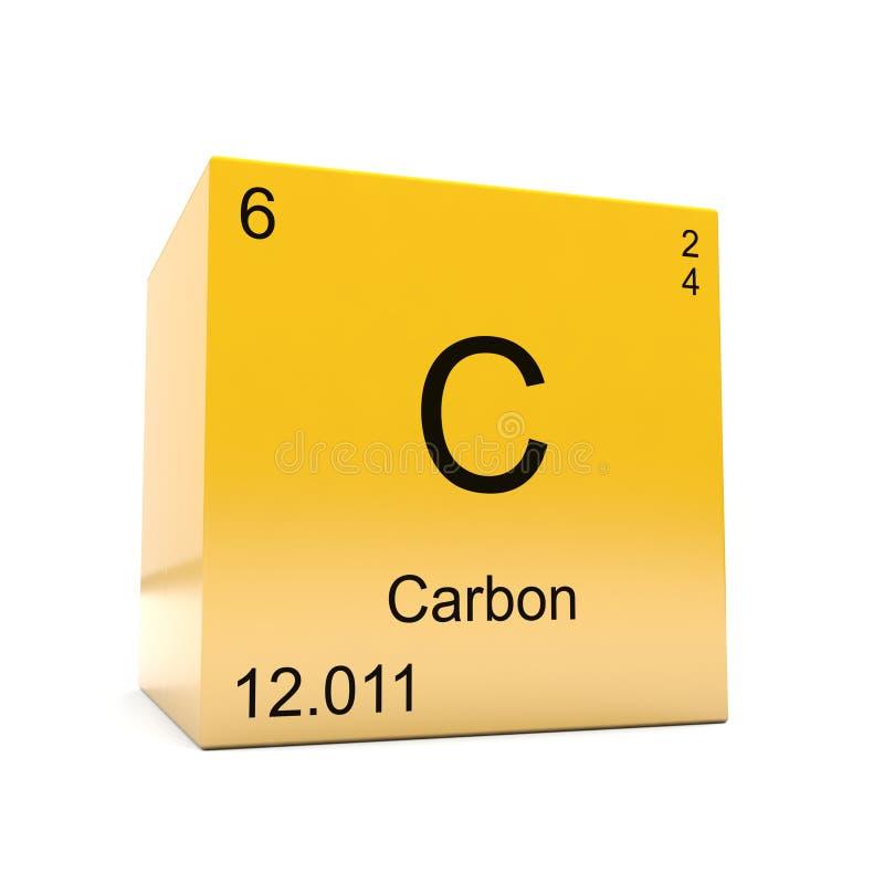 Carbon Symbol Yellow Cube Stock Illustration Illustration Of Yellow