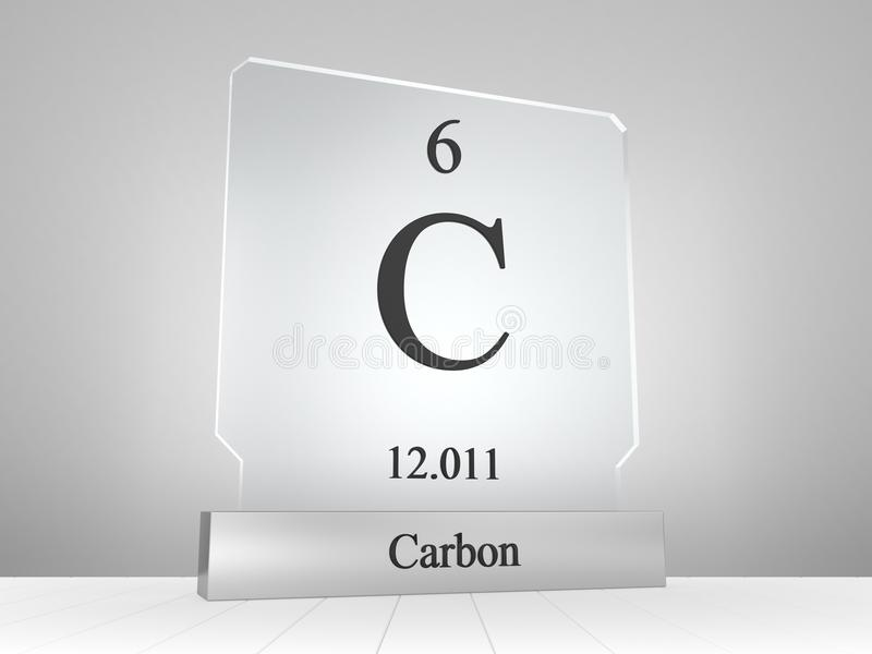 Carbon symbol on modern glass and metal icon stock illustration carbon chemical symbol from periodic table of the elements on modern glass and metal icon urtaz Gallery