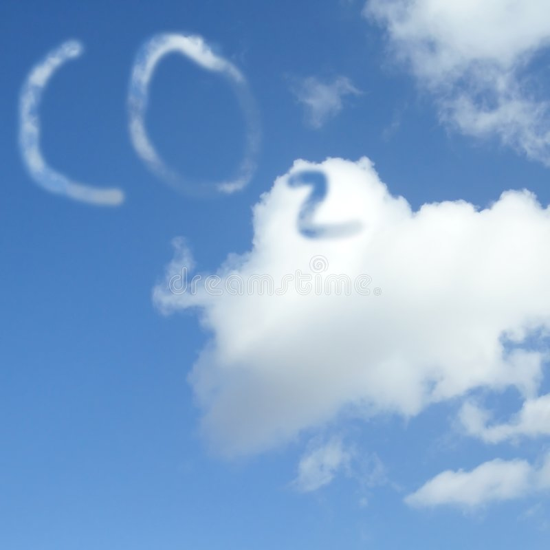 Carbon dioxide cloud royalty free stock photography