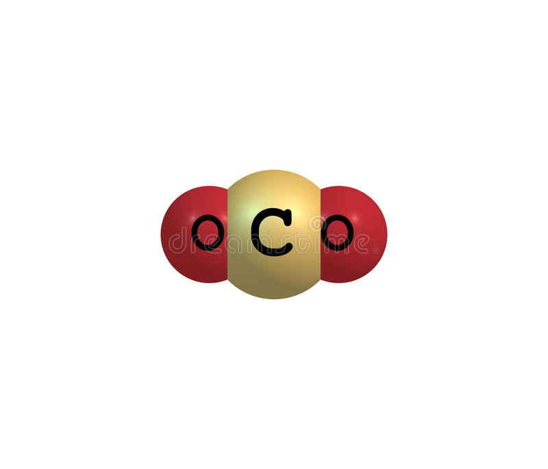 Download Carbon Dioxide Molecular Structure Isolated On White Stock Illustration - Illustration of carbon, illustration: 42230238
