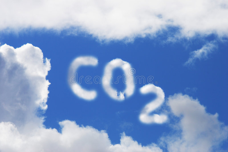 Carbon Dioxide Symbol royalty free stock photo
