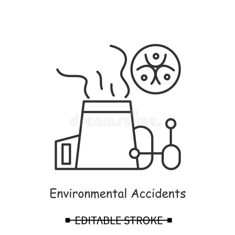 greenhouse effect icon vector  isolated contour symbol