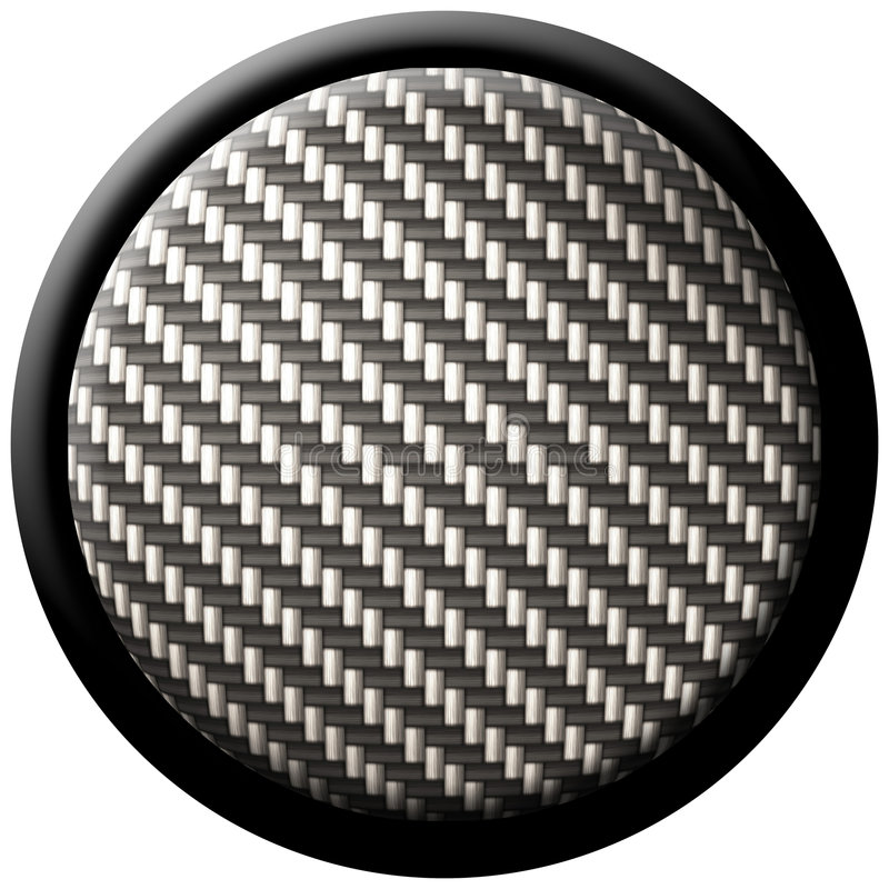 Carbon fiber button stock illustration