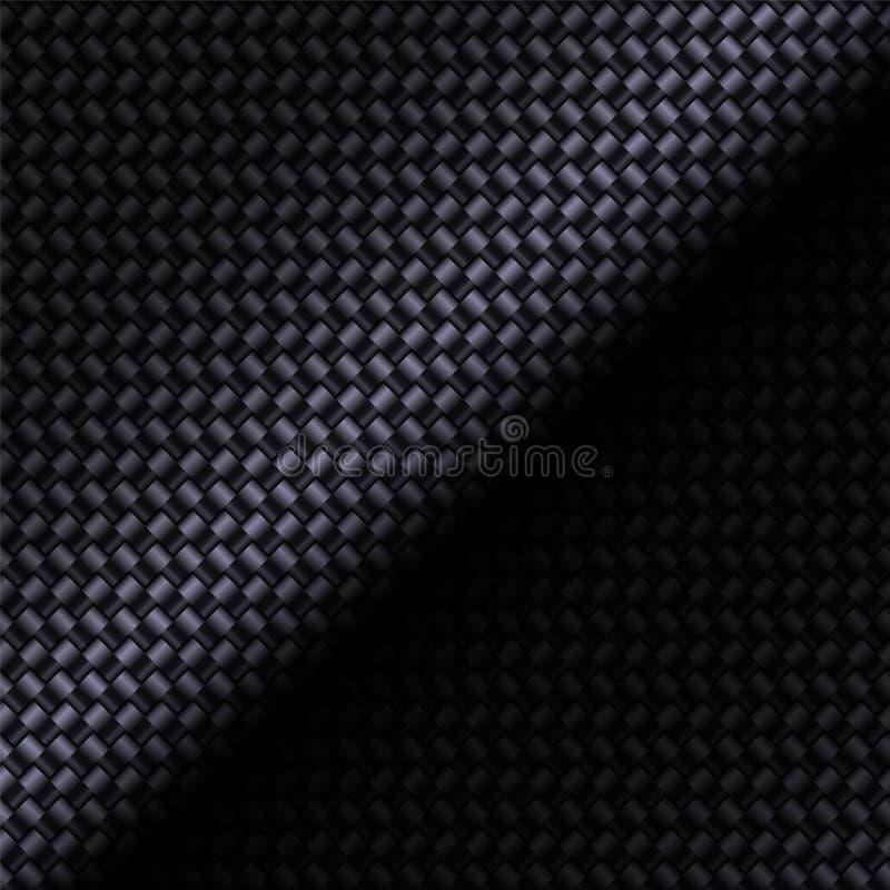 Carbon fiber composite. Texture bending material. Square format. Technology background. Vector illustration vector illustration