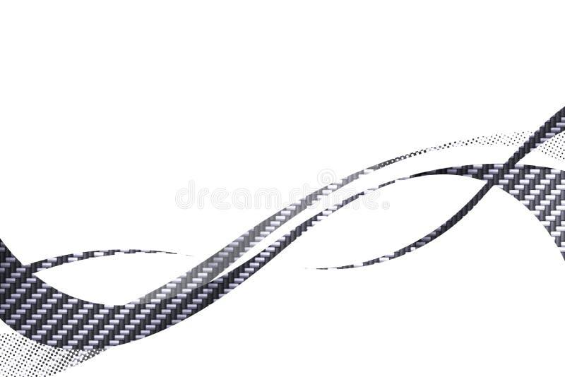 Carbon Fiber Swooshes stock illustration