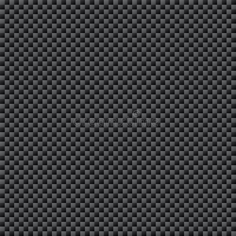Carbon Fiber Weave Sheet Seamless Pattern Stock Vector