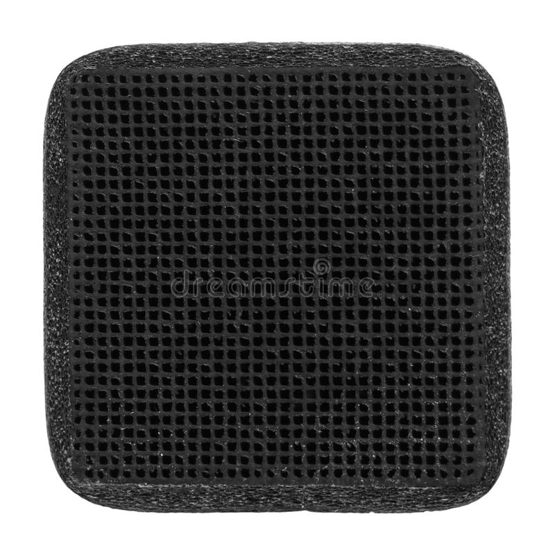 Carbon filter. Carbon air filter used in refrigerators and freezers to purify air royalty free stock photo