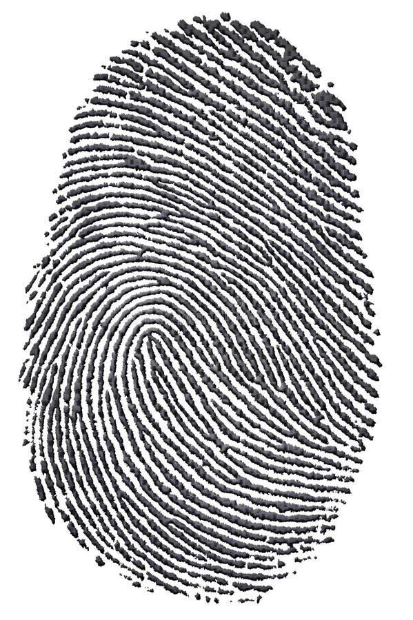 Carbon Fingerprint stock illustration