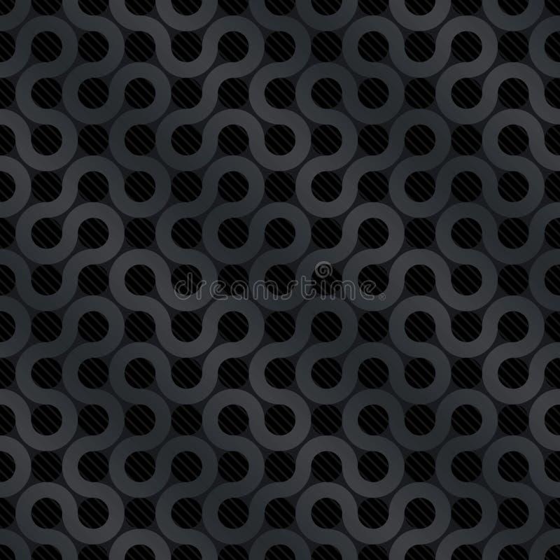 Carbon flow background. (editable seamless pattern vector illustration