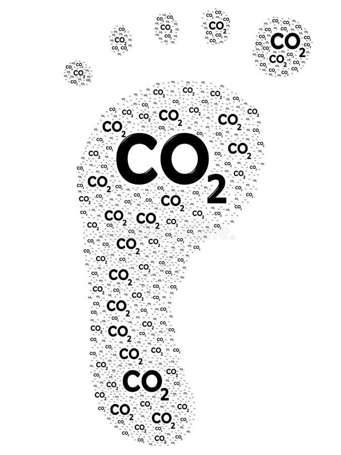 Download Carbon Footprint stock illustration. Illustration of global - 25249201